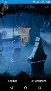 ghost halloween cemetery live wallpaper for android