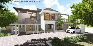 kerala house design contemporary modern with courtyard kerala