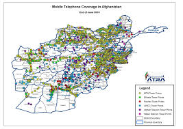 Gsm Coverage Map Usa by Telecom Regulatory Authority Of Afghanistan