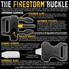 survival bracelet whistle buckle images Firestorm fire starter whistle buckle diy bracelet gear jpg