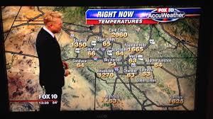 Arizona Temperature Map by Phoenix Fox 10 U0027s Cory Mccloskey Turns A Weather Map Mistake Into A
