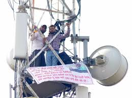 jobs for journalists in chandigarh map sector not coming down without jobs say punjab protesters on tower in