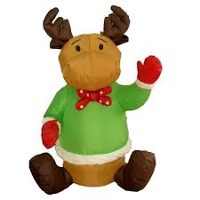 sitting reindeer decoration air