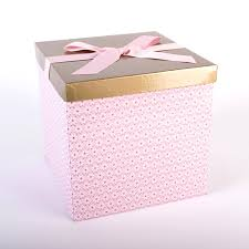 pink flat pack large gift box with ribbon tag cardfactory
