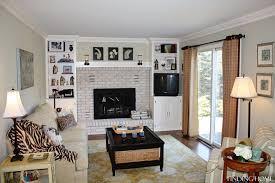 Painting A Brick Fireplace Finding Home Farms - Painting family room