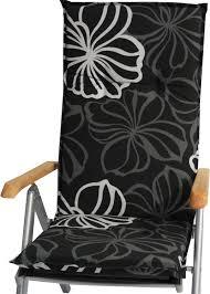 sitzauflagen hochlehner grau hochlehner auflage fuer gartenmoebel 119x48x5 cm schwarz mit