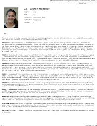 biography sample 1 student athlete profile