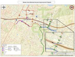 Metro Map Silver Line by Reston Area Metrorail Station Access Improvement Projects