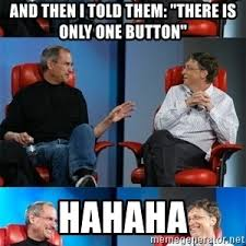Bill Gates And Steve Jobs Meme - steve jobs vs bill gates meme generator