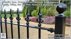 wrought iron and ornamental iron components fencing railing