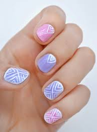 aztec nail art simple aztec line designs miranda aztec nail art