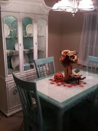 Painted Kitchen Table And Chairs by Best 25 Tile Top Tables Ideas On Pinterest Tile Tables Garden
