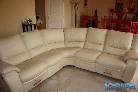 canap d angle arrondi cuir magnifique canapé d angle en cuir 6 places annonce salon
