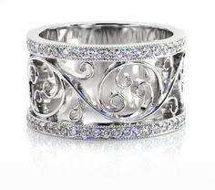 vintage filigree wedding bands design 2837 leaves and ring