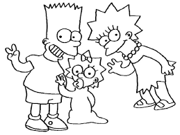 simpsons coloring pages printable cartoon