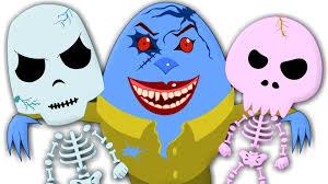 humpty dumpty five little skeletons scary nursery rhyme for