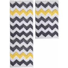 interdesign microfiber chevron bath rug 34 x 21 walmart and