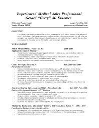 gerry kraemer experienced sales professional resume
