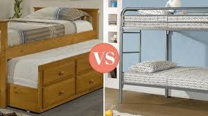 Wood Frame Bunk Beds Wood Vs Metal For Your Child S Bed Frame Which Is Best