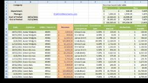 Free Excel Templates Commission Report Template Excel