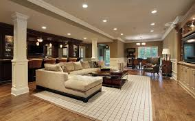 Basement Layouts by Unfinished Large Basement Ideas For Livingroom What To Consider