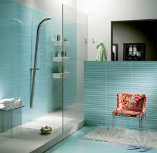 idea for bathroom decor teal colored painting tile ideas with fur rug for peaceful