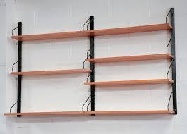 Wall Mount Book Shelves Poul Cadovius Birch Wall Mount Book Shelf Amsterdam Modern
