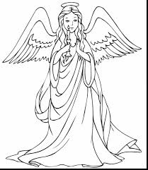 good angel coloring pages cute christmas coloring pages