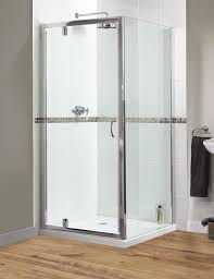 900mm Shower Door Shine Pivot Shower Door 900mm Polished Silver