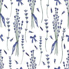 lavender bouquet seamless vector pattern hand drawn graphic flower