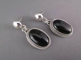 onyx earrings onyx earrings by artie yellowhorse navajo jewelry