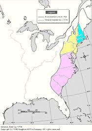 the thirteen colonies map 13 colonies middle and southern map map
