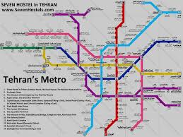 the metro map metro in tehran tourist guide