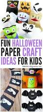 Craft Ideas For Kids Halloween - halloween paper craft ideas for kids that are fun to make