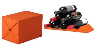 le creuset cube wine rack in volcanic