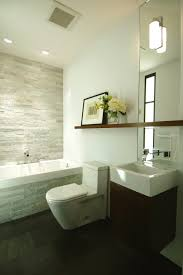 Spa Bathrooms Harrogate - floating led bath spa lights small sink neutral palette and