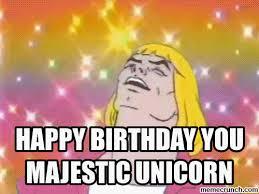 Unicorn Birthday Meme - image gif w 500 c 1