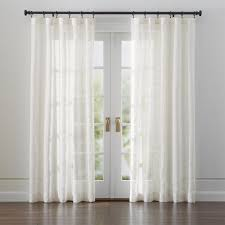 Luxury Linen Curtains Curtain Panels And Window Coverings Crate And Barrel