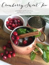 cranberry sweet tea recipe farmhouse chic blog