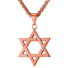 metal necklace men images Collare magen david star necklaces pendants gold color stainless jpg