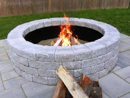 lowes wood burning fire pits panama 66 in w x 66 in l gray concrete fire pit kit lowes home
