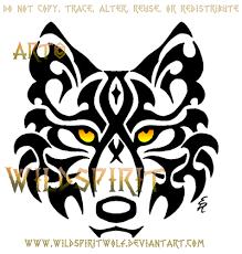 tribal wolf face tattoo by wildspiritwolf on deviantart
