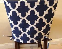 Dining Room Chair Cushion Covers Items Similar To Ikat Gray Fabric Seat Cushion Cover Kitchen