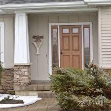 Monogrammed Home Decor Winter Monogram Decor For Outside The Front Door