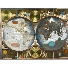 Accurate World Map by Class Accurate World Map Framed Matted 1626