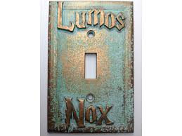 lumos nox harry potter light switch cover