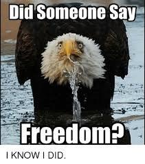 Freedom Meme - did someone say freedom i know i did meme on me me