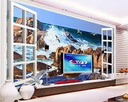 3d wallpaper custom mural beach sea gull painting wall papers home