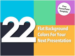 powerpoint design colors 22 flat background colors for your presentation free powerpoint temp