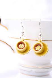 food earrings miniature teacup earrings teacup dangle earrings miniature food
